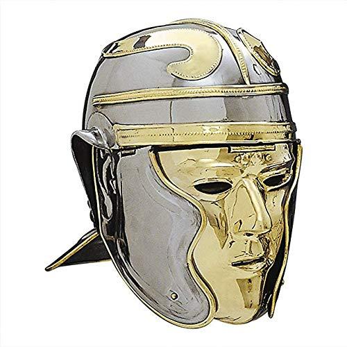 (MAHA LAKSHMI EXPORTS Venue Imperial Gallic 'Face' Roman Helmet - One Size - Metallic Armour)