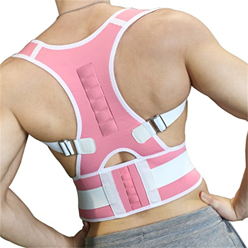 10PCS Magnets Back Support Belt for Posture Correction and Back Pain Support - UNISEX by Aofit (XXL, Pink) by Aofit