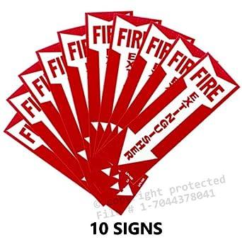 Amazon.com: (10 signos) extintor signos con flecha hacia ...