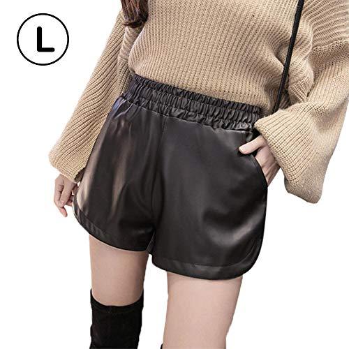 Price comparison product image DLMZY Gambe larghe a vita alta e Pantaloni larghi in Pelle PU