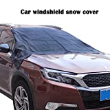 Car Windshield Snow Cover,EFORCAR Universal Magnetic Front window Snow and Ice Defence Portable Double-sided Car Waterproof Cover(245 X 145CM)