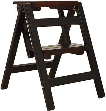LADDER Taburete de Escalera Taburete Plegable Multifuncional para el Hogar Escalera de Madera Taburete Ascendente Taburete para Niños de 2 Peldaños Escalera Silla,Nuez Oscura: Amazon.es: Bricolaje y herramientas