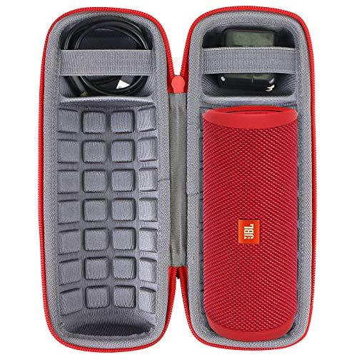 co2crea Hard Carrying Travel Case for JBL Flip 3 4 Waterproof Portable Bluetooth Speaker, Red