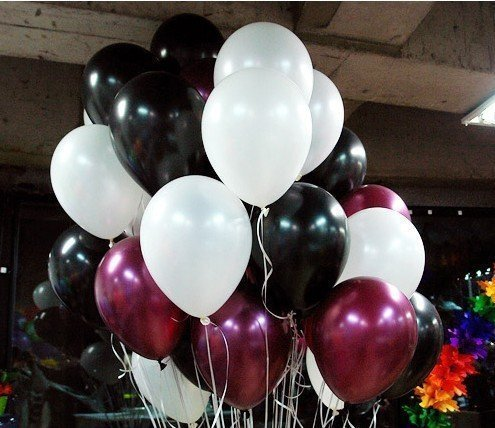 Baby Showers Receptions Water Fights Weddings Neo LOONS 5 Pearl Burgundy Premium Latex Balloons or Any Celebration Great for Kids Adult Birthdays Pack of 100