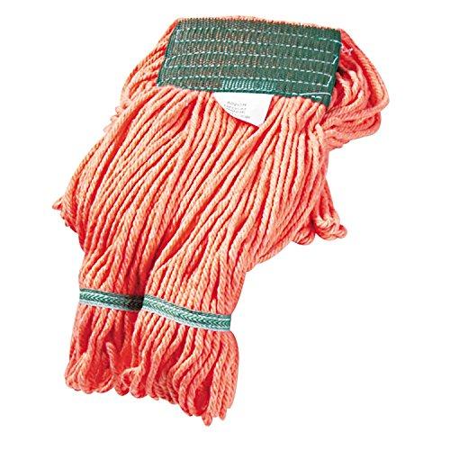 UNISAN Super Loop Wet Mop Heads, Cotton/Synthetic, Medium Size, Orange (502OR)