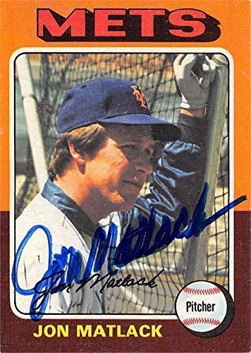 Jon Matlack autographed baseball card (New York Mets) 1975 Topps #290 - Baseball Slabbed Autographed Cards