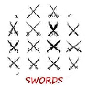 alfombrilla de ratón espadas y sables cruzados - ronda - 20cm