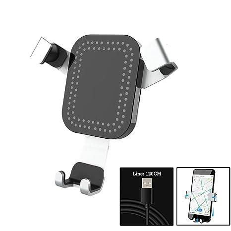 KOBWA Inalámbrico cargador de coche rápido para iphone 8/X ...