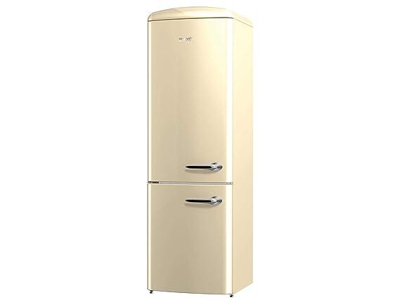 Gorenje Kühlschrank Creme Retro : Gorenje ork 193 c l stand kühl gefrier kombination champagne beige