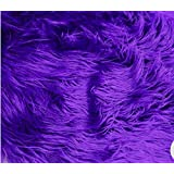 Faux / Fake Fur Mongolian Fabric Sold by the Yard (PURPLE)