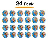 Liberty Imports 24 Pack - Mini Globe Planet Earth Soft Foam Stress Ball Toy Bulk Educational Novelties for Kids, School, Classroom, Party Favors - (2.5'' inches)