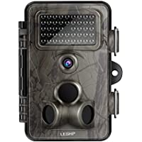 LESHP Game and Trail Camera 12MP 1080P HD With Time Lapse 65ft 120¡ã Wide Angle Infrared Night Vision 42pcs IR LEDs Waterproof IP66 2.4 LCD Screen Scouting Camera Deer Camera Digital Surveillance