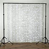 BalsaCircle 6 feet x 6 feet White Flower Garland Backdrop Drapes Curtains - Wedding Ceremony Event Party Photo Booth Home Windows