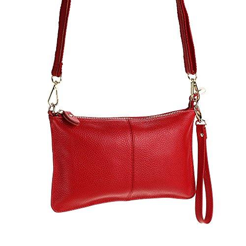 de las Bolso Manilla mujeres Pequeño Diferente bolso PU Rojo de hombro Bolsa la embrague de Para Cuero Crossbody Moda mano de billeteras Bolsa ORgYnxw