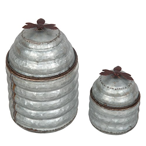 Foreside Home & Garden Beehive Containers Canisters (Set of 2) ()