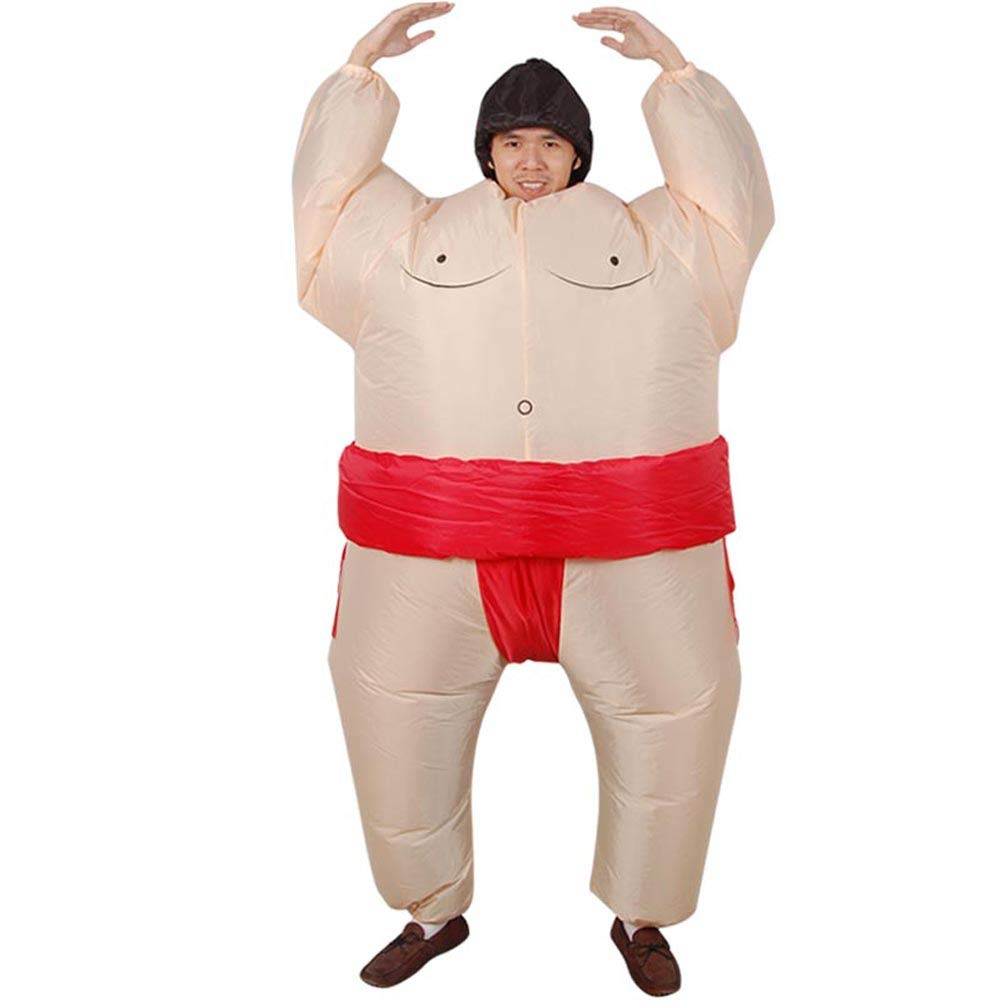 Vantina Halloween Costume Inflatable Sumo Wrestler Wrestling Suits Colorful Bodysuit
