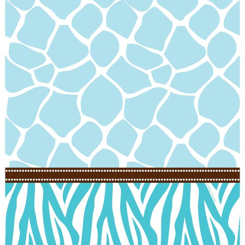 (Creative Converting Baby Shower Wild Safari Border Print Plastic Table Cover, 54 by 108-Inch,)