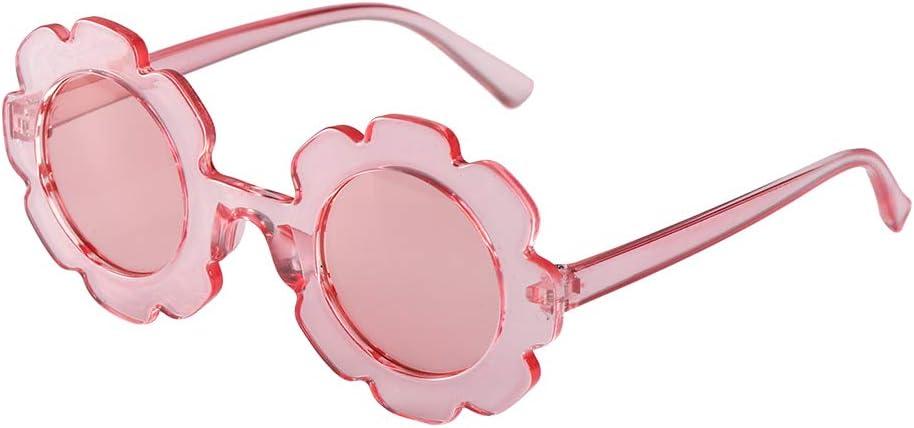 nero 1 Favori Little Girls occhiali da sole dei bambini dei bambini fiore rotondo Occhiali Summer Beach Eyewear Foto puntelli del partito del costume