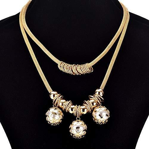 - 1pc Fashion Women Jewelry Pendant Gold Choker Chunky Statement Chain Bib Necklace OY7K