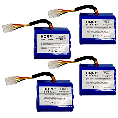 HQRP Battery 4-Pack for Neato XV-11 All