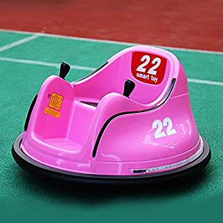 OFEFAN⭐ Baby Bumper car, Ride On Toy Car with Safety Belt, Ride On Bumper Car with Simplified Joystick Controls, Anti-Flat Tires, Spin 360 Degrees, Easy to use - No Assembly, for Boys Girls (Pink)
