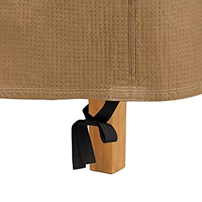 Duck Covers Essential Water-Resistant 22 Inch Square Patio Ottoman/Side Table Cover: Garden & Outdoor