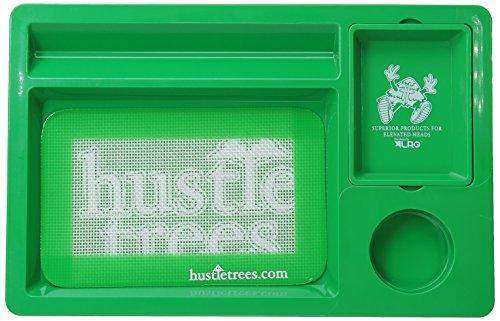 - Hustle Trees Men's Premium HT Rolling Tray, Kelly Green, One Size