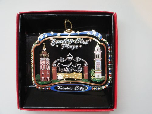 Kansas City Christmas ORNAMENT Country Club Plaza Missouri State Souvenir - Kansas City Plaza Country