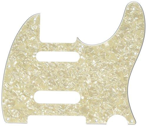 - Fender Modern Pickguard, Deluxe Nashville Telecaster, 8-Hole - White Moto