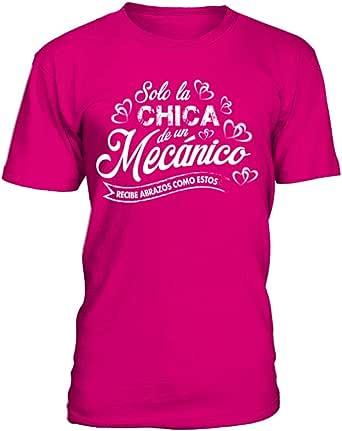 Camiseta Hombre Solo la Chica de un mecanico recibe Abrazos como Estos: Amazon.es: Ropa y accesorios