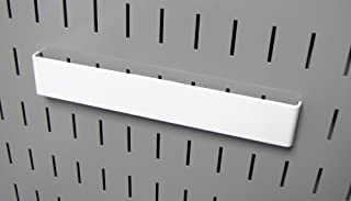product image for Wall Control Pegboard 8in Accessory Hanger Tool Holder Bracket Pegboard Accessory for Wall Control Pegboard and Slotted Tool Board – White