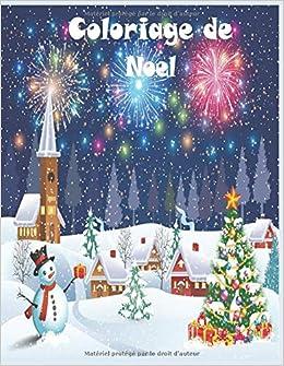 Coloriage de Noel: 50 jolies dessins amusants sur le thème de Noël
