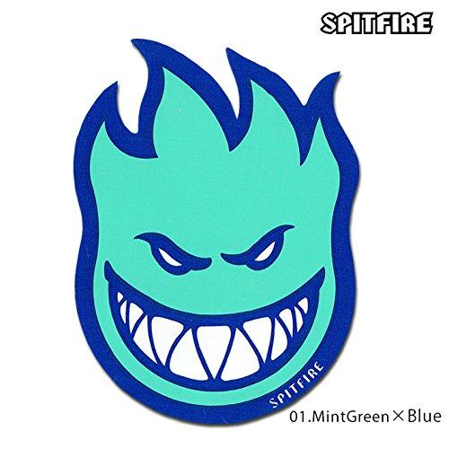 キャラバン異邦人抑制するスピットファイヤーウィールズ デビルヘッド フィル 6インチ ステッカー(ミントグリーン×ブルー)【Spitfire Wheels Fill Sticker】(Mintgreen/Blue )