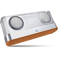 Arisen WindBox R Transparent Bluetooth 4.2 Speakers – 20W Output with 3-Color LED Light, Loud Volume with Enhanced Bass, IPX4 Waterproof Portable Speaker for Phones, PC, Car and Outdoor (Brown)