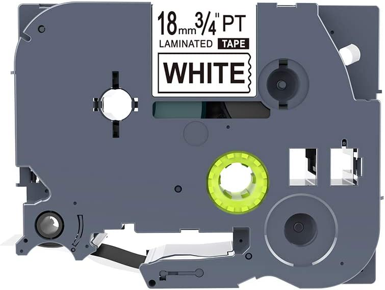 2PK Black on White Label Tape for Brother P-Touch TZ S241 TZe S241 18mm 8M