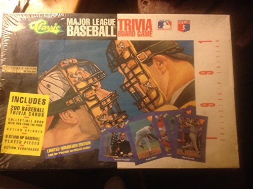 1991 Classic Baseball (Major League Baseball Trivia Board Game; 1991 Collector's Edition by Classic Games)
