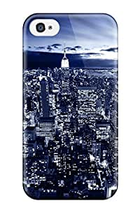 New New York In Blue Tpu Case Cover, Anti-scratch EkZqpxt3595ajXKL Phone Case For Iphone 4/4s