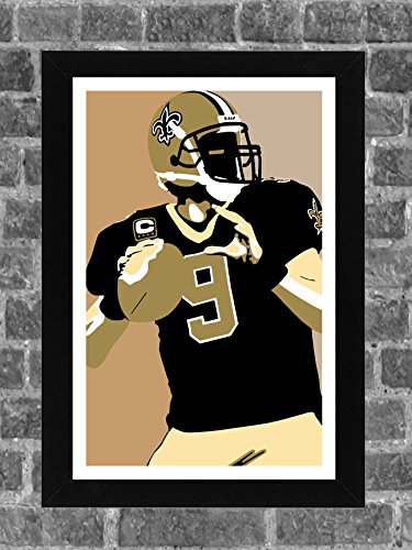 New Orleans Saints Drew Brees Portrait Sports Print Art 11x17 (Orleans New Portrait Saints)