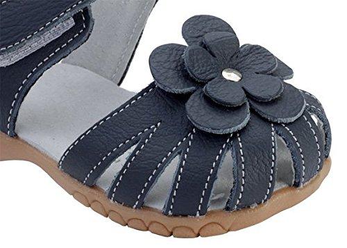 Mädchen Sandalen geschlossene Zehe beiläufige Outdoor-Sandale Black