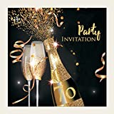 Pack of 10 70th birthday party invitations amazon office party invitations gold sparkle champagne 18th 21st 30th 40th 50th filmwisefo