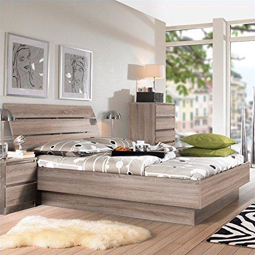 Tvilum Scottsdale 2 PC Full Platform Bed Set in Truffle (Bedroom Set Full Furniture)
