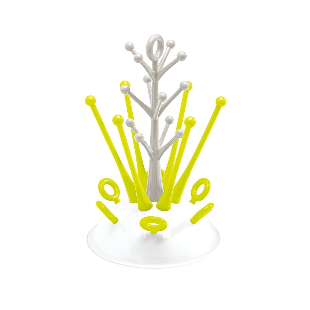 Beaba Bottle Tree Draining Rack Neon