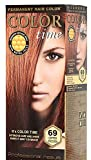 Color Time Permanent Hair Dye with Royal Jelly Color Copper Passion 69