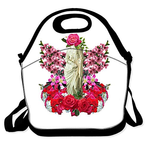 Lunch Bag for Boys Girls Kids Women Insulated Thick Lunch Tote Bags with Shoulder Strap Lunchbox Handbag Food Bento Boxes Container for Work School-Spring Flowers Goddess