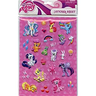 Hasbro My Little Pony Raised Sticker Sheet: Toys & Games