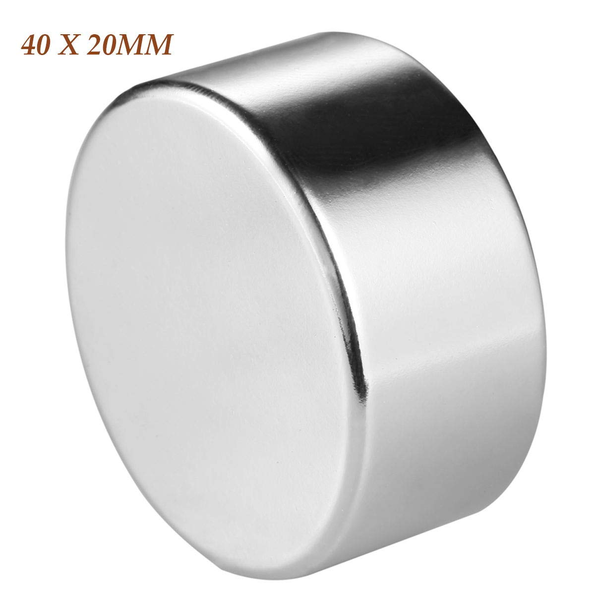 Wukong Cylindrical Neodymium Magnet N52 Permanent Magnet, The World's Strongest Rare Earth Magnets Widely Used in DIY Scientific Experiments(40MM X 20MM)