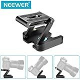 Neewer Folding Z Flex Tilt Head Tripod Ball Head with Quick Shoe QR Plate - Aluminum Alloy Camera Bracket with Bubble Level, Compatible with Canon Nikon Sony Camera Camcorder, Tripod, Slider Rail