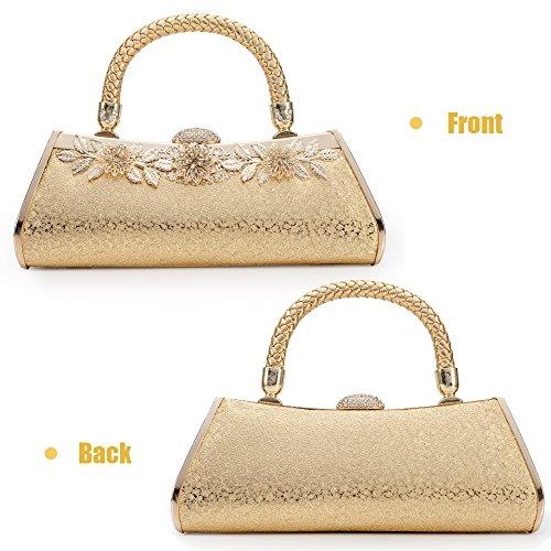 Bag Party Hard Purses Wedding Bridal Case Womans Metal Gold Prom Evening Clutch Sivler Bags Vintage Frame Handbag 1 Gold tPwZgxHSq