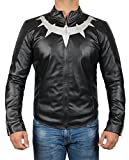 Mens Black Panther Jacket - Avengers Infinity War Leather Jacket | Panther Basic, XXL