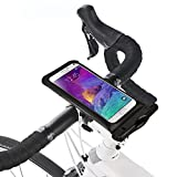 Sumaclife Universal Cellphone Waterproof Case, Bike Mount Holder Cellphone Waterproof Pouch for 5.5-6'' Cellphones, for Samsung Galaxy Note 4(without case on it) (Black 5.5'' Size L)